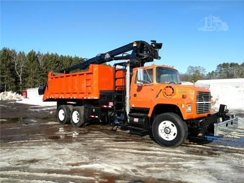 1996 ford L8000 HI RAIL RAILROAD ROTARY DUMP TRUCK CUMMINS POWERED