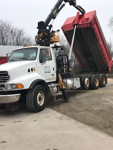 2007 STERLING HIRAIL DUMP TRUCK WITH MAGNET AND GRAPPLE