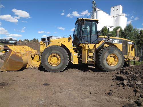CATERPILLAR 980G FRONT END WHEEL PAY LOADER FORKS