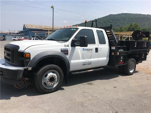 2008 FORD F-550 EXTENDED CAB DIESEL 4X4 DUALLY HI-RAIL SERVICE TRUCK