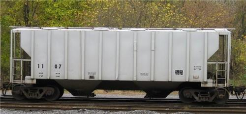 289)--COVERED TOP SAND HOPPER 268 GRL FRAC-SAND RAIL CARS