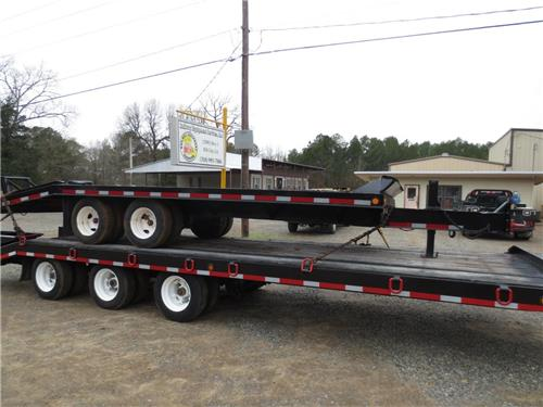 REDI-HAUL TANDEM AXLE UNDERSLUNG 8 TIRE PRNTAL HITCH UTILITY EQUIPMENT TRAILER