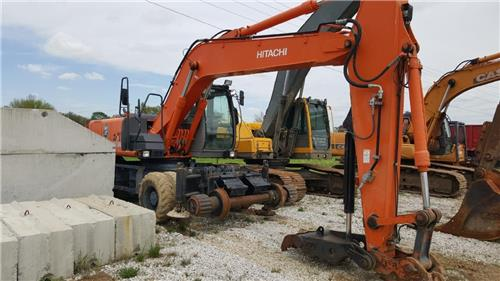 RAILROAD MAINTENANCE OF WAY MOW CAT HITACHI 180W HI RAIL EXCAVATOR