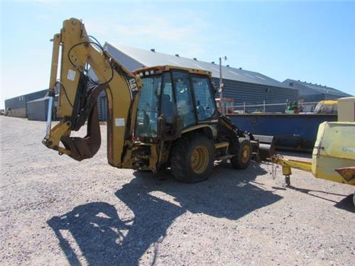 CAT CATERPILLAR RAILROAD 420 BACKHOE IT EXTENDA-HOE 4X4 THUMB FORKS  X0832