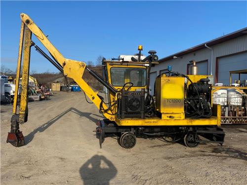 2009 KNOX KERSHAW KTC-1200 TIE CRANE  RAILROAD MOW MACHINE
