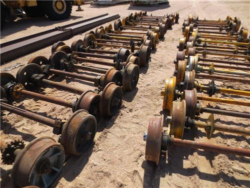 RAILROAD WHEELS AND AXLES PUSH CART AND MOW SETS A TOTAL OF 66 AVAILABLE
