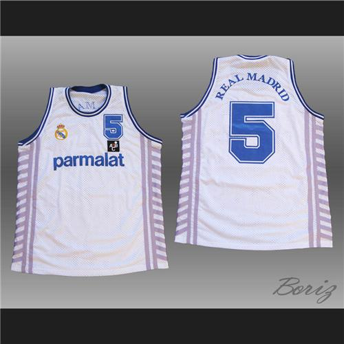 promo code f23fd 053cb Drazen Petrovic Basketball Jersey Sewn Stitch Real Madrid Any Size Mint  Tracking