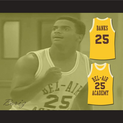 c20412b2dbb9 The Fresh Prince of Bel-Air Carlton Banks Bel-Air Academy Basketball Jersey.  BEL-AIR ACADEMY BANKS 3.jpeg