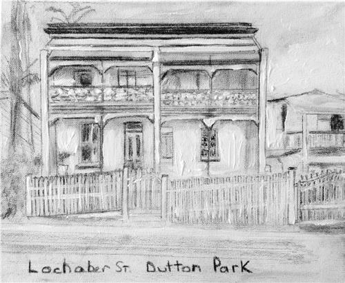 Commissioned Sketch on canvas of your home or business