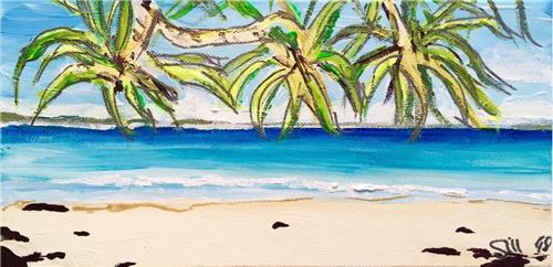 'Noosa Aspect' Acrylic Painting on Canvas/Artist Gill Fahey