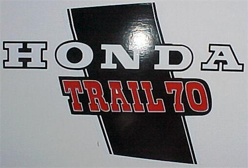 Honda CT70 K1H 4 Speed Main Frame Decal Set