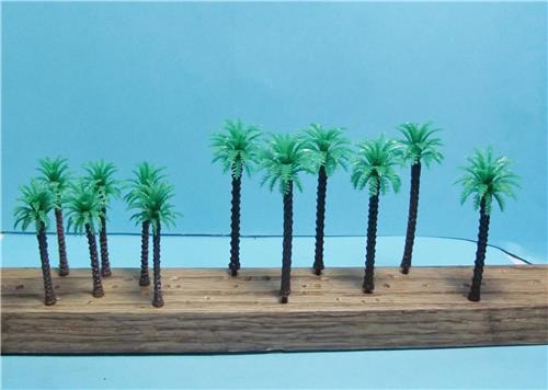 "N Scale-Scale Model Coconut Palm Trees-2 Sizes-2"" & 2 3/4""-12 Pieces-6 of Each"