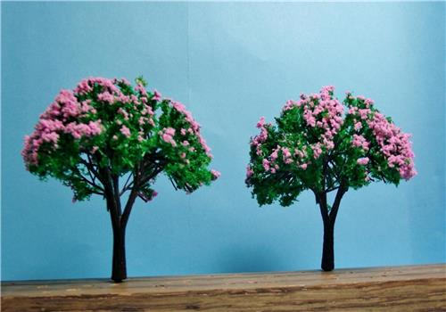 "Multi Scale Use-Authentic Model Tree Scenery-Premium Quality Lilac Trees-6 Pieces 3"" Tall"