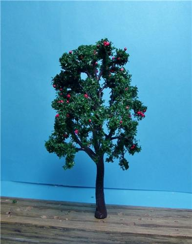 Multi Scale Use-Authentic Model Tree Scenery-Premium Quality Apple Trees-6  Pieces 4 3/8