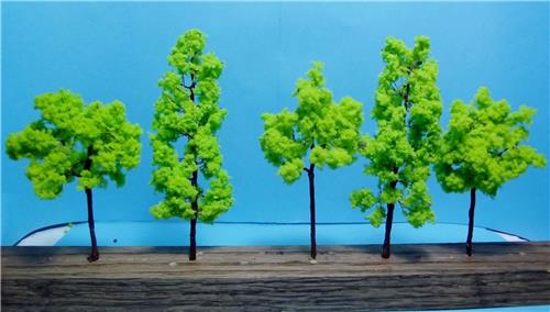 Multi Scale Use-Model Tree Scenery-Light Green Trees-2 Sizes-4 3/8