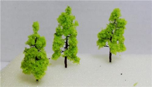 """Model Railroad Scale Model Trees-Multi Scale Use-2"""" Light Green Trees-1 Size-20 Pieces Total"""