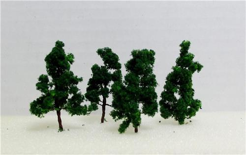 "Model Railroad Scale Model Trees-Multi Scale Use-2"" Dark Green Trees-1 Size-20 Pieces Total"