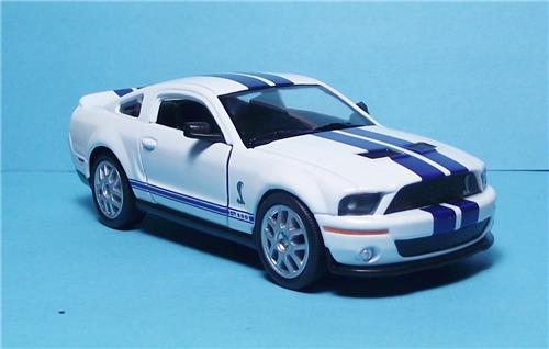 "2007 Ford Shelby GT 500-5"" Die Cast Metal w/Pull Back Power & Opening Drs-White"