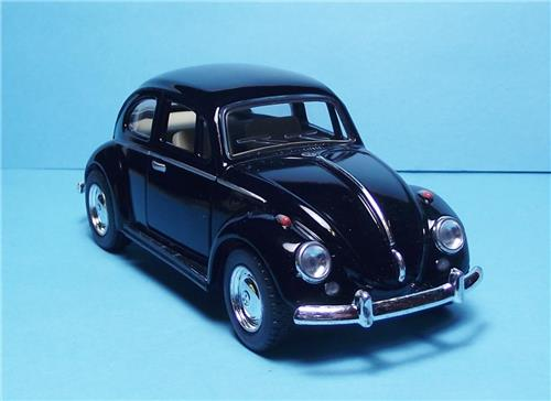 "1967 Volkswagen Classic Beetle-5"" Die Cast w/Pull Back Power & Opening Drs-Black"