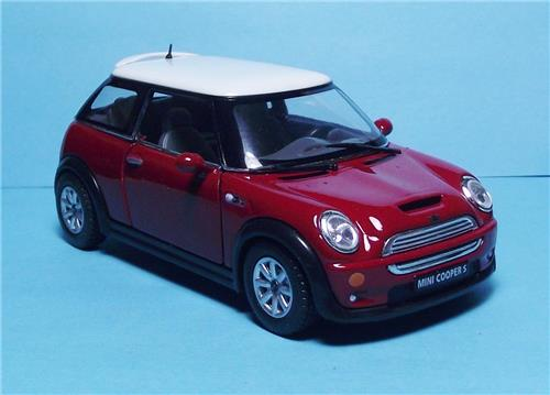"2012 Mini Cooper S-5"" Die Cast Metal w/Pull Back Power & Opening Drs-Red"