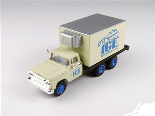 HO Scale-Classic Metal Works-30417-1960 Ford Refrigerated Box Truck-City Ice Co.