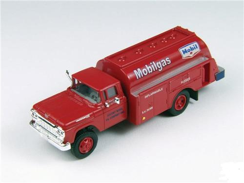 HO Scale-Classic Metal Works-30419-1960 Ford Gas & Oil Tank Truck-Mobilgas