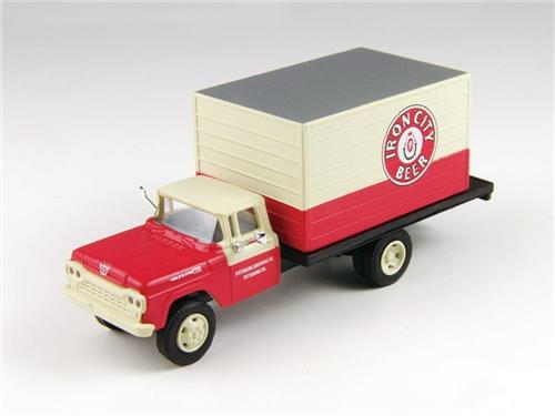 HO Scale-Classic Metal Works-30428-1960 Ford Delivery Box Truck-Iron City Beer