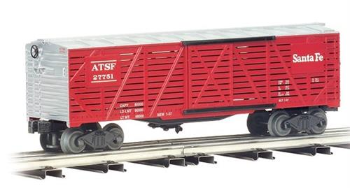 O Gauge-Williams/ Bachmann-Traditional Line-47407-Santa Fe RR 40' Stock Car