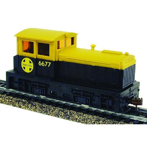 HO Gauge-Model Power-96670-DDT Plymouth Industrial Switcher-AT&SF Santa Fe #4366