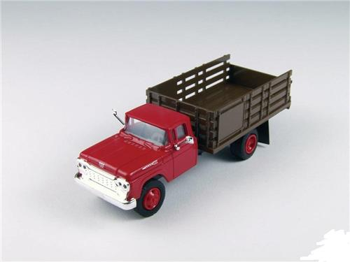 HO Scale-Classic Metal Works-30413-1960 Ford Stake Bed Truck-Monte Carlo Red