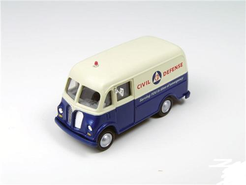 HO Scale-Classic Metal Works-30405-International Metro Van-Civil Defense