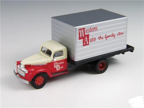 HO Scale-Classic Metal Works-30373-'41-'46 Chevy Delivery Truck-Western Auto