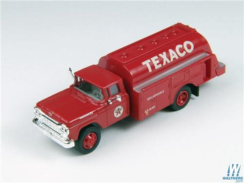 HO Scale-Classic Metal Works-30418-1960 Ford Gas & Oil Tank Truck-Texaco Oil Co