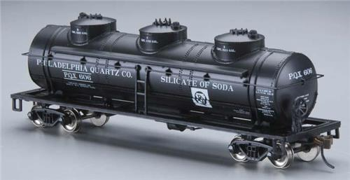 "HO Gauge-Bachmann ""Silver Series""-17128-Philadelphia Quartz 40' 3 Dome Tank Car"
