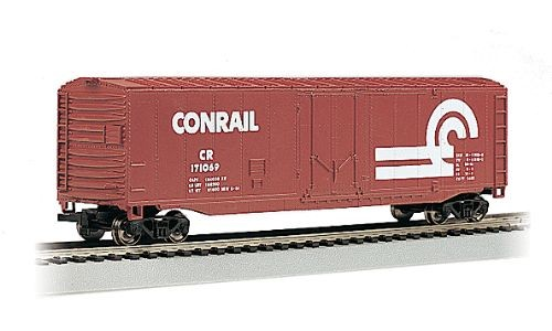 "HO Gauge-Bachmann ""Silver Series""-18006-Conrail R.R. 50' Plug Door Box Car"