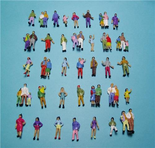 HO Gauge-1:87 Scale Model Figures-50 Town People in Several Different Poses