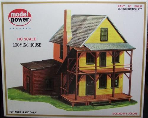 HO Gauge-Model Power-426-Model RR Bldg Kit-Rooming House-Molded in 6 Colors