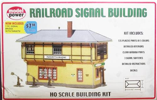 HO Gauge-Model Power-403-Railroad Signal Building Model Kit-Molded in 5 Colors