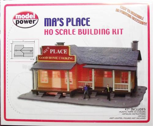 HO Gauge-Model Power-190-Ma's Place Home Cookin Model Kit-Molded in 8 Colors