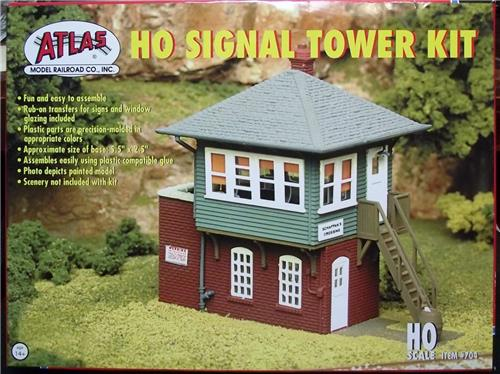 HO Gauge-Atlas-704-Model Railroad Building Kit-HO Signal Tower Kit