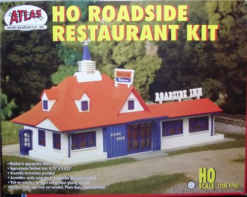 HO Gauge-Atlas-760-Model Railroad Building Kit-HO Roadside Restaurant Kit