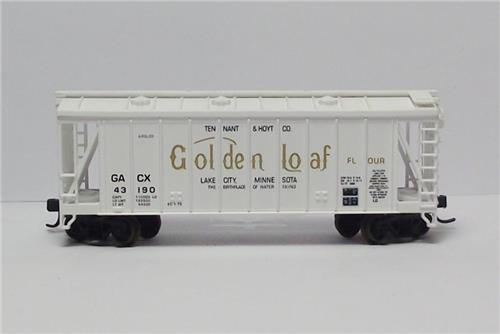 "N Gauge-Atlas ""Trainman""-38631-Golden Loaf RR-GATX Airslide Hopper-43190"