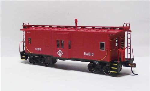HO Gauge-Athearn-75009-Erie Lakawanna Railroad-Bay Window Caboose-#C363