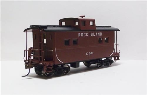 HO Gauge-Athearn-74342-Rock Island Railroad-Four Window Caboose-#17506