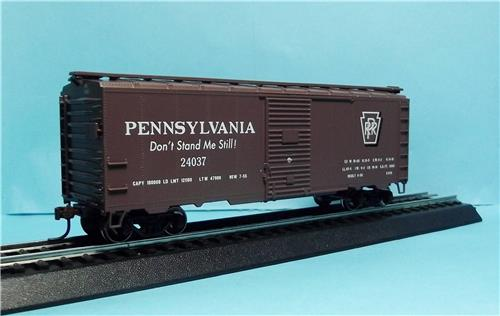 HO Gauge-Athearn-70054-Pennsylvania RR-40' Youngstown Steel Door Box Car #24037