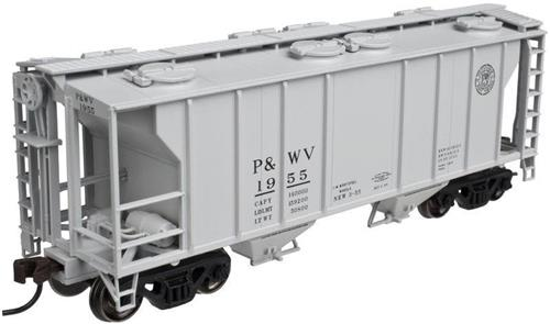 HO-Atlas Trainman-20003215-Pittsburgh & West Virginia-PS-2 Covered Hopper-#1990