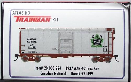 HO-Atlas Trainman Kit-20003224-Canadian National RR-1937 AAR 40' Box Car #521499