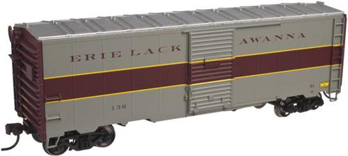 HO Gauge-Atlas Trainman Kit-20002532-Erie Lakawanna RR-1937 AAR 40' Box Car #131