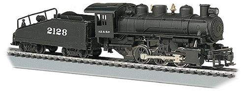 HO Gauge-Bachmann-50604-USRA 0-6-0 Steam Locomotive & Slope Tender-W/Smoke-Santa Fe RR #4442