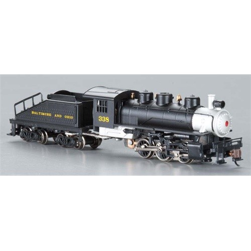 N Gauge-Bachmann-50562-USRA 0-6-0 Steam Switcher & Slope Tender-Baltimore & Ohio #338